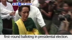 VOA60 World PM - Aung San Suu Kyi's Nominee Moves Closer to Presidency