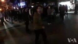 فیلم ارسالی: تجمع مردم در کنگاور استان کرمانشاه در روز پنجم اعتراضها