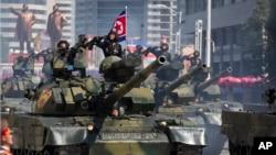 北韓2018年9月大規模閱兵資料照。