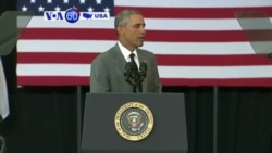 VOA60 America - Presidential Barack Obama visited New Orleans to mark 10 years since Hurricane Katrina - August 28, 2015