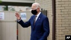 Le candidat démocrate à la présidentielle, l'ancien vice-président Joe Biden lors de la rencontre des propriétaires de petites entreprises à Yeadon, en Pennsylvanie le 17 juin 2020.