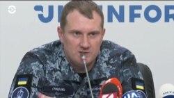 Пресс-конференция освобожденных украинских моряков
