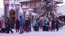 Santa Claus Village near Rovaniemi, Finland gets many asian tourists