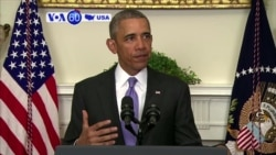 VOA60 America- President Barack Obama praises the implementation of Iran nuclear deal