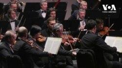 Гастролі українського симфонічного оркестру у США. Відео