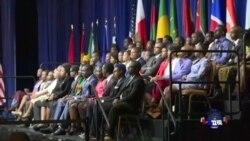 奧巴马与非洲青年举行见面会