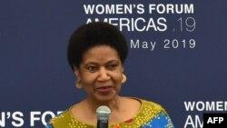 Phumzile Mlambo-Ngcuka, directrice d'ONU Femmes, lors de la cérémonie d'ouverture du Women's Forum Americas à Mexico, le 30 mai 2019. (AFP)
