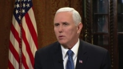 Pence: US Supports Iran Protesters' Quest for a Freer Iran