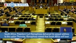 VOA60 Africa- South African President Cyril Ramaphosa delivered his annual address to the nation Thursda