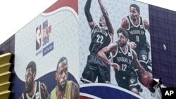 2019年NBA上海賽海報赛海报