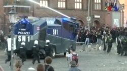 Imagens que marcaram a semana: Manifestações em Hamburgo devido ao G20