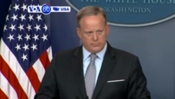 VOA60 America- Sean Spicer resigns as White House Press Secretary