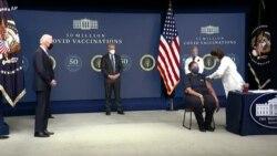 Rais Biden asheherekea juhudi za mafanikio ya chanjo Marekani