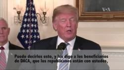 """Trump a beneficiarios de DACA: """"Los republicanos estamos con ustedes"""""""