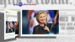 Manchetes Americanas 7 Junho: Hillary pode ser a nomeada democrata