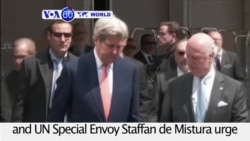 VOA60 World PM - Kerry Looks to Stop Widening Violence in Syria