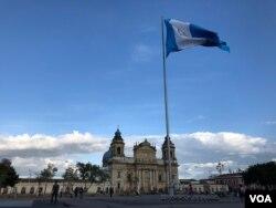 Plaza de la Constitución en Ciudad de Guatemala, Guatemala.