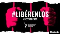 Campaña #Libérenlos de la Red Latinoamericana de Jóvenes por la Democracia que busca presionar por la liberación de los presos políticos en la región.[Foto: Cortesía]