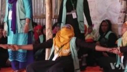 罗兴亚难民妇女通过冥想减轻压力
