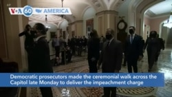 VOA60 America - US House Lawmakers Deliver Article of Impeachment to Senate