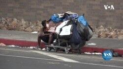 У Лос-Анджелесі пандемія ще більше загострила проблему безхатьків у місті. Відео
