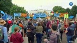 Beyaz Saray Önündeki İklim Protestosunda Gergin Anlar