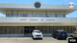 Fachada de la Corte Suprema de Justicia en Nicaragua. [Foto Houston Castillo, VOA]