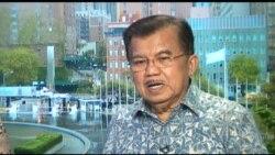 Liputan Khusus VOA: Wapres Jusuf Kalla 'Indonesia Tidak Berpihak ke AS atau ke Suriah'