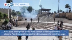 VOA60 World - Israeli police used a water cannon and stun grenades to disperse Palestinian protesters in Jerusalem
