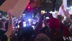 Une troisième nuit de manifestation à Charlotte
