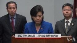 美议员怀疑陈霞芬间谍案有族裔因素