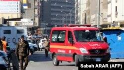 La scène d'un double attentat suicide dans une rue commerciale animée au cœur de Bagdad, en Irak, le 21 janvier 2021.