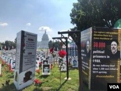 تجمع اعتراضی گروهی از ایرانیان مقابل کنگره