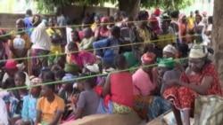 Une distribution de vivres du PAM dans la ville de Bouar