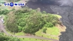 "VOA60 America - Hawaii: Three people are airlifted to safety after ""vigorous eruptions"" from the Kilauea volcano"