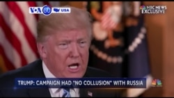 VOA60 America - President Trump Denies Being Under Investigation