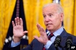 President Joe Biden speaks in the East Room of the White House, Aug. 3, 2021.