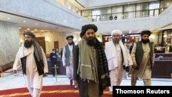 ملا غنی برادر، یکی از اعضای کابینه طالبان.