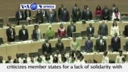 VOA60 Africa - AU head Moussa Faki Mahamat criticizes member states for a lack of solidarity