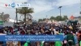 VOA60 Africa- Crowds of worshippers converged Sunday on Senegal's holy city of Touba as part of the traditional annual celebration