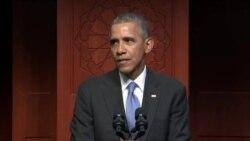 Первый визит президента Обамы в мечеть в США