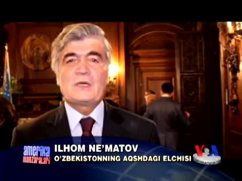 O'zbekiston elchixonasida vatandoslar yig'ini/Uzbeks in America, embassy gathering
