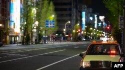 17일 일본 도쿄 번화가의 한산한 모습.