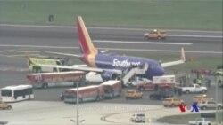 美國西南航空航班引擎碎裂 一死七傷