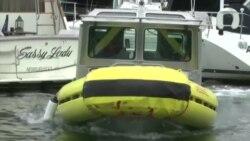美国万花筒:无人驾驶船驶入波士顿港口