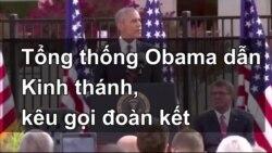 Tổng thống Obama dẫn Kinh thánh, kêu gọi đoàn kết
