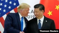 ທ່ານທຣຳ ພົບກັບ ທ່ານສີ ຢູ່ທີ່ກອງປະຊຸມສຸດຍອດ ບັນດາຜູ້ນຳ ປະເທດ G20 ໃນນະຄອນ ໂອຊາກາ ຂອງຍີ່ປຸ່ນ.