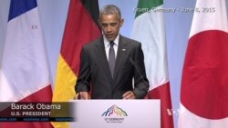 Obama: G7 Agrees to Keep Russia Sanctions