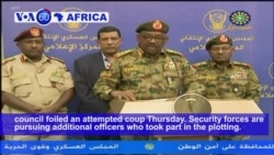 VOA60 Africa - Sudan on High Alert After Military Says it Foiled Coup Attempt