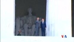 2015-04-28 美國之音視頻新聞:奧巴馬將在白宮正式歡迎安倍晉三到訪